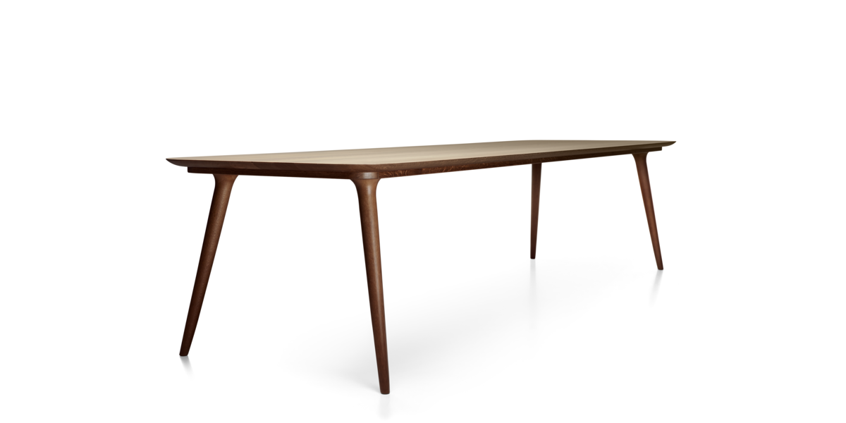 Zio Dining Table length 310 cinnamon front view