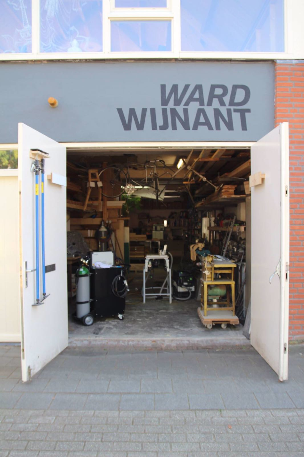 Studio of designer Ward Wijnant