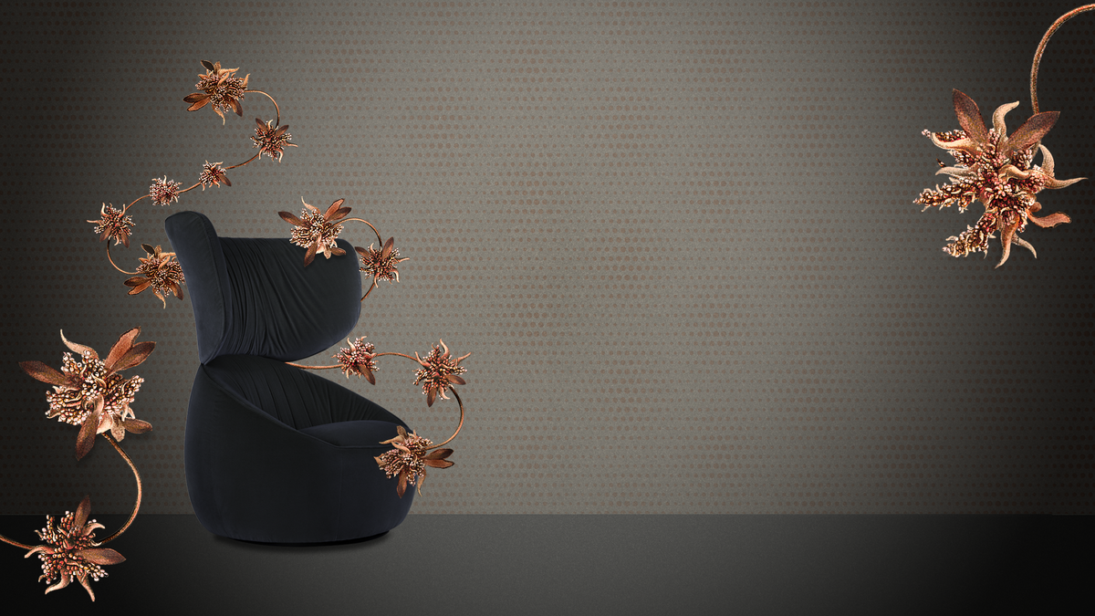The Moooi Hana Armchair blooms like a flower.